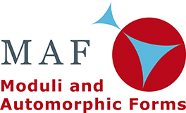 Logo of the Research Training Group Moduli and Automorphic Forms