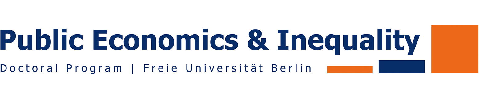 Logo of the doctoral program Public Economics and Inequality