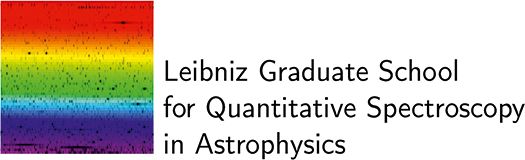 Logo of the Leibniz Graduate School for Quantitative Spectroscopy in Astrophysics